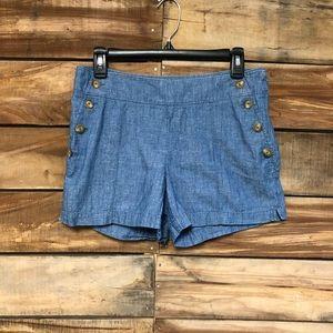 Ann Taylor Loft size 2 Rivera linen shorts